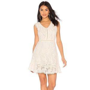 BB Dakota Ivory Rease Ruffle Lace Dress 6